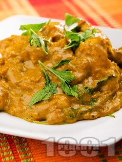 Аям ява - пиле с къри, кимион, куркума, кориандър, джинджифил и кокосово мляко - снимка на рецептата